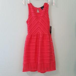 NWT Paper Doll sleeveless lace mesh summer dress